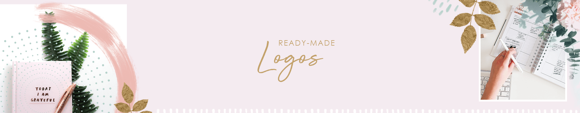 coral antler premade brands and ready-made logo shop banner